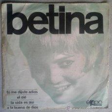 Discos de vinilo: BETINA EP 1966 VERSION BRINCOS + DUO DINAMICO - CHICA YE-YE ESPAÑOLA - EKIPO 66102-XC. Lote 34043959