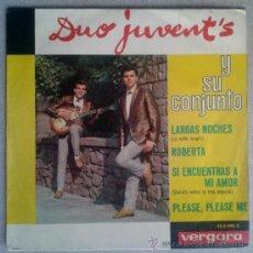 Discos de vinilo: DUO JUVENT'S EP VERS BEATLES PLEASE PLEASE ME - VERGARA 350090 - SPAIN 1964. Lote 34045022