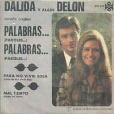 Discos de vinilo: DALIDA Y ALAIN DELON EP SELLO ORFEON EDITADO EN MEXICO. Lote 34039741