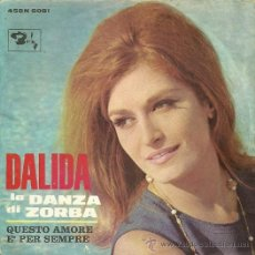 Discos de vinilo: DALIDA SINGLE SELLO BARCLAY EDITADO EN ITALIA. Lote 34039856