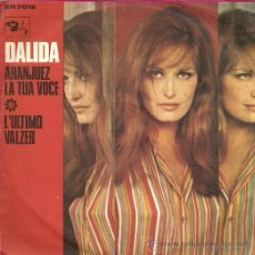 Discos de vinilo: DALIDA SINGLE SELLO BARCLAY EDITADO EN ITALIA. Lote 34039876