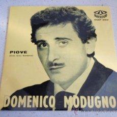 Discos de vinilo: DOMENICO MODUGNO ( PIOVE (CIAO,CIAO BAMBINA) - FARFALLE - RESTA CU MME - LA SIGNORA A FIANCO) 1959. Lote 34040763