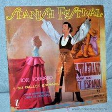 """Discos de vinilo: JOSE TOLEDANO - SPANISH FESTIVAL - LP VINILO 12"""" - 12 TRACKS - EDITADO ESPAÑA - MONTILLA-ZAFIRO 1961. Lote 34041016"""