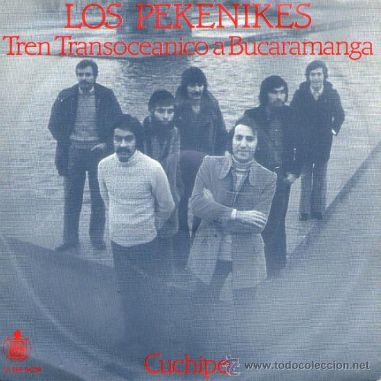 LOS PEKENIKES - RARO SINGLE 7' - EDITADO EN HOLANDA - CUCHIPE + TREN TRANSOCEÁNICO A BUCAMARANGA (Música - Discos - Singles Vinilo - Grupos Españoles 50 y 60)