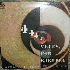 Discos de vinilo: ADOLFO CELDRAN - 4.444 VECES POR EJEMPLO LP ORIGINAL ESPAÑA MOVIEPLAY 1975 PORTADA ABIERTA ENCARTE. Lote 34049930