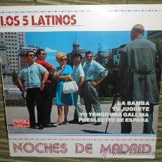 Discos de vinilo: LOS 5 LATINOS - NOCHES DE MADRID LP - EDICION ESPAÑA TIMPLE 1988 - MUY NUEVO (5). Lote 55689627