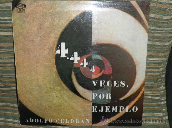 Discos de vinilo: ADOLFO CELDRAN - 4.444 VECES POR EJEMPLO LP ORIGINAL ESPAÑA MOVIEPLAY 1975 PORTADA ABIERTA ENCARTE - Foto 10 - 34049930