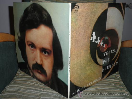 Discos de vinilo: ADOLFO CELDRAN - 4.444 VECES POR EJEMPLO LP ORIGINAL ESPAÑA MOVIEPLAY 1975 PORTADA ABIERTA ENCARTE - Foto 8 - 34049930