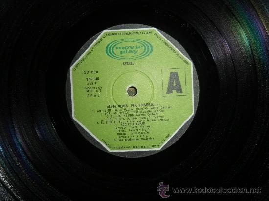 Discos de vinilo: ADOLFO CELDRAN - 4.444 VECES POR EJEMPLO LP ORIGINAL ESPAÑA MOVIEPLAY 1975 PORTADA ABIERTA ENCARTE - Foto 3 - 34049930