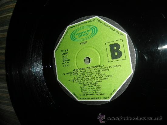 Discos de vinilo: ADOLFO CELDRAN - 4.444 VECES POR EJEMPLO LP ORIGINAL ESPAÑA MOVIEPLAY 1975 PORTADA ABIERTA ENCARTE - Foto 5 - 34049930