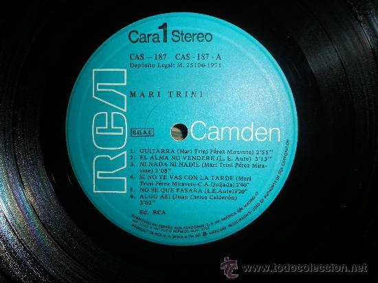 Discos de vinilo: MARI TRINI - MARI TRINI LP - ORIGINAL ESPAÑA RCA CAMDEN 1971 - ESTEREO - MUY NUEVO (5) - DEBUT ALBUM - Foto 2 - 34050280