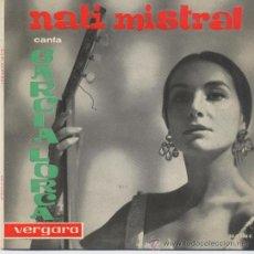 Discos de vinilo: NATI MISTRAL,CANTA A GARCIA LORCA DEL 62. Lote 34047476