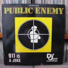 Discos de vinilo: PUBLIC ENEMY MAXI VINILO 911 IS A JOKE HIP-HOP. Lote 34052424