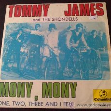 Discos de vinilo: TOMMY JAMES AND THE SHONDELLS - MONY, MONY. Lote 34059590