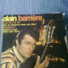 Discos de vinilo: ALAIN BARRIERE - SI JE REVE DE TOI + 3 (EP, BARCLAY 60´S) . EDICIÓN FRANCESA ORIGINAL. Lote 34064516