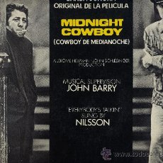 Discos de vinilo: MIDNIGHT COWBOY. LP 33.EVERYBODY´S TALKIN´.NILSSON.JOHN BARRY.UNITED ARTISTS AÑO 1975. Lote 34067343
