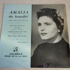 Discos de vinilo: AMÁLIA ( UMA CASA PORTUGUESA - COIMBRA - SOLIDAO(CANCAO DO MAR) - BARCO NEGRO(MÄE PRETCH) ) ENGLAND. Lote 34070835