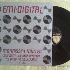 "Discos de vinilo: 12"" MAXI-EMI-DIGITAL-MORRISSEY-MULLER-LOVE DON'T LIVE HERE.... Lote 34072325"