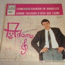 Discos de vinilo: ADAMO ( J'AIME - CHANSON EN RONDELLES - COMME TOUJOURS - CEUX QE J'AIME ) 1966-FRANCE EP45 EMI. Lote 34083638