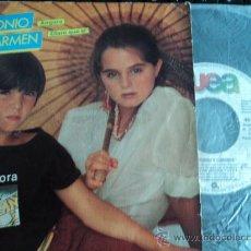Discos de vinilo: SINGLE 45 RPM ANTONIO Y CARMEN - ANGORA Y CLARO QUE SÍ - WEA - 1982. Lote 34090893