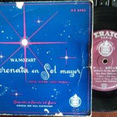 Discos de vinilo: EP 33 1/3 RPM W.A. MOZART. SERENATA EN SOL MAYOR. SARRE. RISTENPART. ERRATO. HISPAVOX. AÑOS 50. Lote 34090996