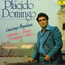 Discos de vinilo: PLÁCIDO DOMINGO - CANCIONES POPULARES - LP 1977. Lote 34101723