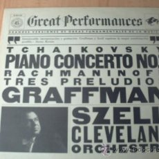 Discos de vinilo: TCHAIKOVSKY PIANO CONCERTO NO. 1 Y RACHMANINOFF TRES PRELUDIOS GRAFFMAN. Lote 34114686