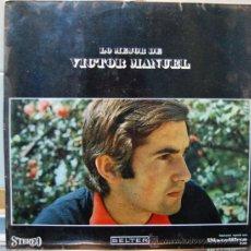 Discos de vinilo: VICTOR MANUEL DISCO DE VINILO LP LO MEJOR DE VICTOR MANUEL. Lote 41407527