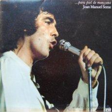 Discos de vinilo: DISCO DE VINILO LP JOAN MANUEL SERRAT PIEL DE MANZANA. Lote 34125081