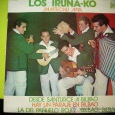 Discos de vinilo: LOS IRUÑA-KO // MAITECHU MIA / LP CAUDAL 1977 PEPETO. Lote 34127285