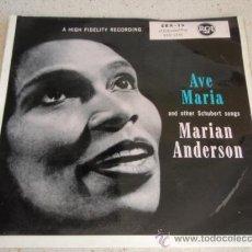 Discos de vinilo: MARIAN ANDERSON 'FRANZ SCHUBERT' ( AVE MARIA - DIE FORELLE - WOHIN? - DER ERLKÖNIG ) EP45 RCA. Lote 34130525