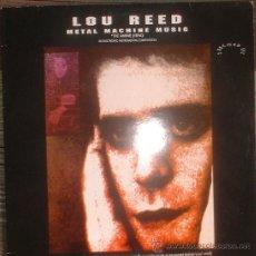 Discos de vinilo: LOU REED - METAL MACHINE MUSIC - 2LP EDICION INGLESA 1991 GREAT EXPECTATIONS. Lote 34146784