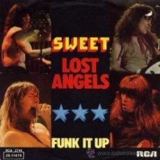 Discos de vinilo: THE SWEET ··· LOST ANGELS / FUNK IT UP - (SINGLE 45 RPM). Lote 34149680