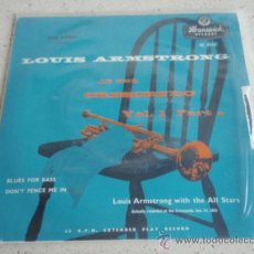 Vinyl records - LOUIS ARMSTRONG AT THE CRESCENDO with THE ALL STARS ( BLUES FOR BASS - DON'T FENCE ME IN ) ENGLAND - 34150822