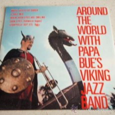 Discos de vinilo: AROUND THE WORLD WITH PAPA BUE AND HIS VIKING JAZZ BAND, SCANDINAVIA 1960 EP STORYVILLE. Lote 34152254