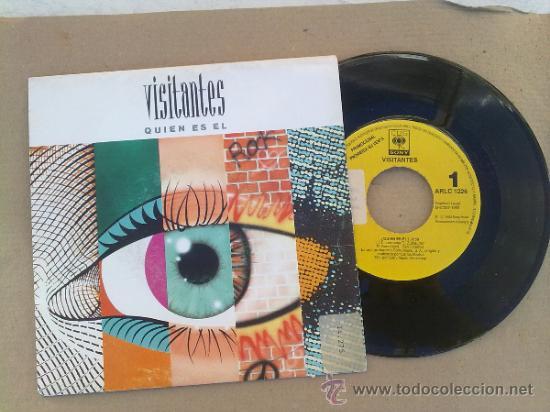 VISITANTES/ ¿ QUIEN ES EL? 1992 DISCO PROMOCIONAL (Música - Discos - Singles Vinilo - Pop - Rock Extranjero de los 90 a la actualidad)