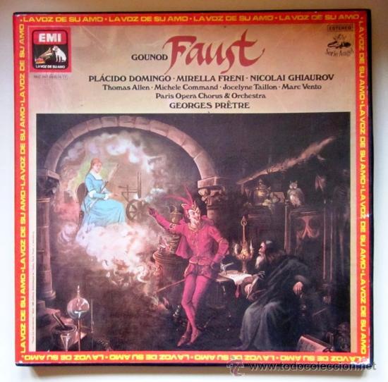 GOUNOD - FAUSTO - PLÁCIDO DOMINGO - CAJA CON 4 LPS + LIBRETO - 1979 - COMO NUEVO (Música - Discos - LP Vinilo - Clásica, Ópera, Zarzuela y Marchas)