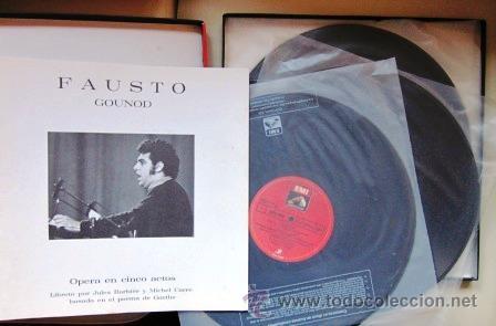 Discos de vinilo: GOUNOD - FAUSTO - PLÁCIDO DOMINGO - CAJA CON 4 LPS + LIBRETO - 1979 - COMO NUEVO - Foto 2 - 34170823