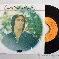 Discos de vinilo: LUIS FIERRO - CHIQUILLA/MUJER ¿DONDE ESTAS? ¡¡NUEVO!! (RCA SINGLE 1978) ESPAÑA. Lote 34170906