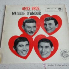 Discos de vinilo: THE AMES BROTHERS ( MELODIE D'AMOUR - FASCINATION - SAYONARA - AROUND THE WORLD ) GERMANY-1957 EP45. Lote 34171492