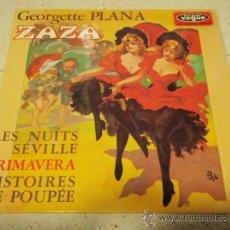 Discos de vinilo: GEORGETTE PLANA – ZAZA FRANCIA,1968 EP DISQUES VOGUE. Lote 34174932