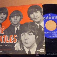 Discos de vinilo: THE BEATLES ( STRAWBERRY FIELDS FOREVER / PENNY LANE) SINGLE ESPAÑA 1967 DSOL 66077 (EX+/NM) (EP9) . Lote 34187834