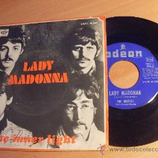 THE BEATLES (LADY MADONNA / THE INNER LIGHT) SINGLE 1968 ESP (EX+/NM)(EP9)
