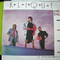 Discos de vinilo: KLIQUE - LOVE CYCLES. 1985 MODERN SOUL DISCO LP MCA GERMANY PEPETO. Lote 59543391
