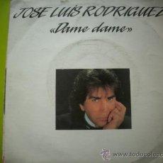Discos de vinilo: JOSE LUIS RODRIGUEZ EL PUMA-DAME DAME + SEÑOR CORAZON SINGLE 1988 SPAIN. Lote 34198449