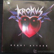Discos de vinilo: LP KROKUS // HEART ATTACK. Lote 34234376