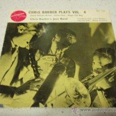 Discos de vinilo: CHRIS BARBER'S JAZZ BAND ( BUGLE CALL RAG - PETITE FLEUR - SWEET GEORGIA BROWN ) SWEDEN EP45. Lote 34190533