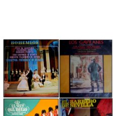 Discos de vinilo: LOTE 4 DISCOS DE: ÓPERA, ZARZUELA Y SAINETE. Lote 34202385