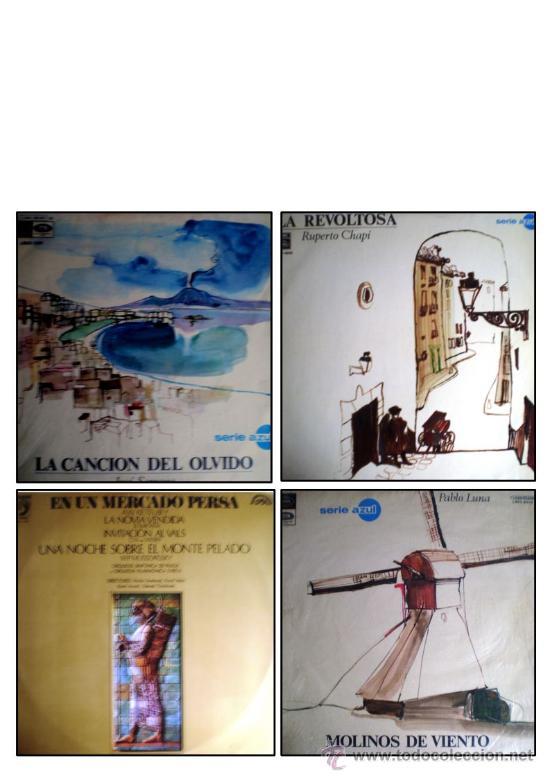 LOTE 4 DISCOS DE: ÓPERA, ZARZUELA Y SAINETE (Música - Discos - Singles Vinilo - Clásica, Ópera, Zarzuela y Marchas)