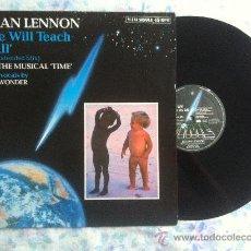 """Discos de vinilo: 12"""" MAXI-JULIAN LENNON-TIME WILL TEACH US ALL. Lote 34203102"""